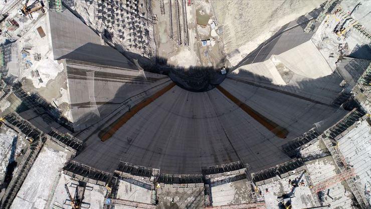 Ekonomiye 1 milyar 250 milyon lira katkı sağlayacak Yusufeli Barajı yükseliyor