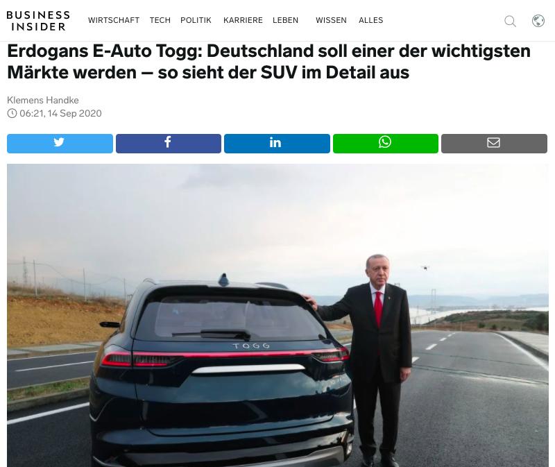 Yerli otomobilin Alman elektrikli otomobillerine göre önemli bir avantajı var