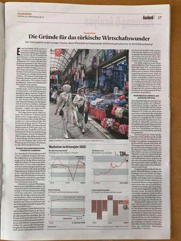 Alman gazete Handelsblatt Türkiye ekonomisi