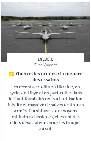 Le Monde haberi SİHa yere göğe sığmıyor yok satıyor