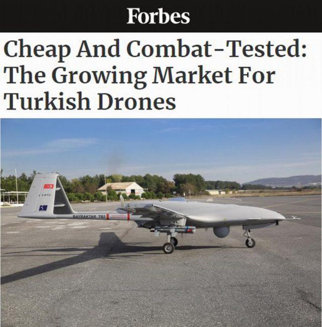 Forbes İHA SİHA ihracat NATO Avrupa